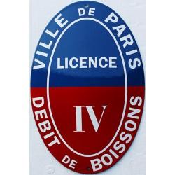 Plaque émaillée Licence 4 PARIS - 20x30cm (décoration)