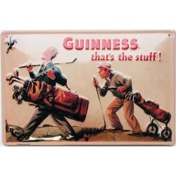Plaque métal publicitaire 20x30cm cm bombée en relief : Guinness  Golf