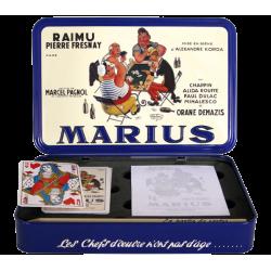 Coffret métal cartes à jouer : MARIUS
