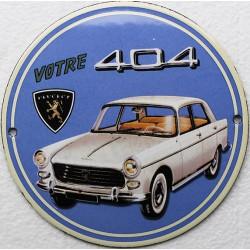 plaque émaillée : Peugeot 404