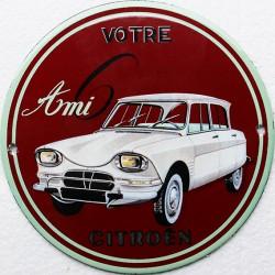 plaque émaillée : Citroën Ami 6