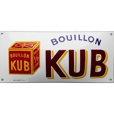 Plaque émaillée : BOUILLON KUB