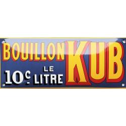 Plaque émaillée : Bouillon KUB Litre