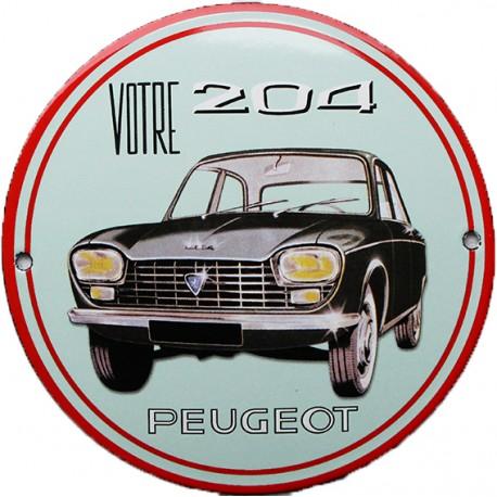 plaque émaillée : Peugeot 404.