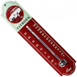 Thermomètre émaillé, bombé hauteur 30cm : CITROËN AMI 6