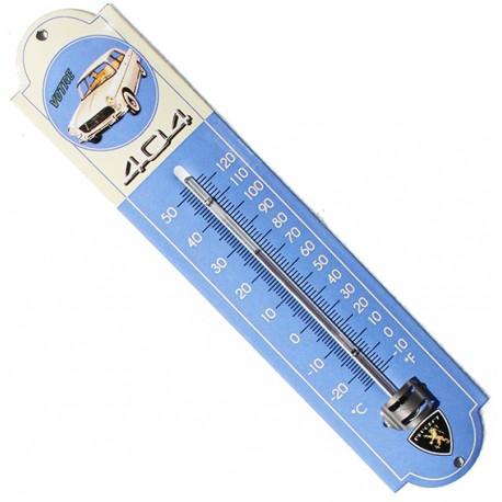Thermomètre émaillé, bombé hauteur 30cm : PEUGEOT 404