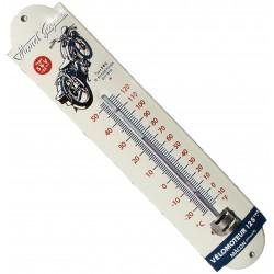 Thermomètre émaillé bombé hauteur 30cm : MONET GOYON