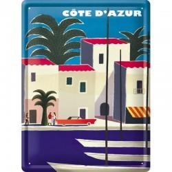 plaque métal publicitaire 30x40cm :  COTE D AZUR PORT