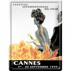 plaque métal publicitaire 30x40cm :  FESTIVAL DE CANNES