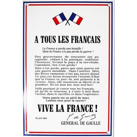 Appel du Gal de Gaulle