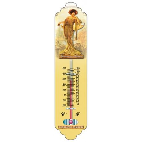 Thermomètre métal hauteur 28cm :  CHAMPAGNE POMMERY