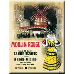 Plaque métal publicitaire 30x40cm  plate  :  Grande Redoute Moulin Rouge