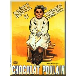 Plaque métal publicitaire 30x40cm  plate  :  Chocolat Poulain