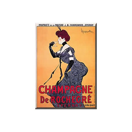 Plaque métal publicitaire 15x20cm plate : Champagne de Rochegre