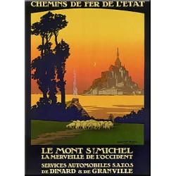 Plaque métal publicitaire 15x20cm plate : Le Mont St Michel