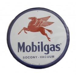 plaque métal publicitaire diamètre 30cm : MOBLIGAS PEGASAS