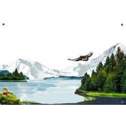 Plaque émaillée 15 x 22 cm : Décor Montagne