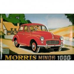 Plaque métal publicitaire 20x30cm bombée en relief : MORRIS MINOR