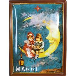 Plaque métal publicitaire 30x40 cm plate  : MAGGI LUNE