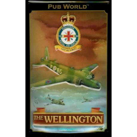 Plaque publicitaire 20x30cm bombée en relief : THE WELLINGTON