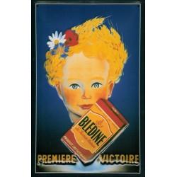 Plaque publicitaire 20x30cm bombée en relief : BLEDINE
