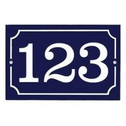Numéro de rue émaillé 10 x 15 cm - 2 trous