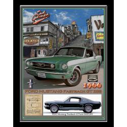 plaque métal publicitaire 30x40cm relief  : MUSTANG SAN FRANCISCO