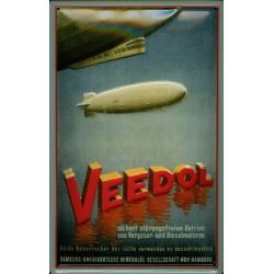 plaque métal publicitaire 20x30cm relief  : VEEDOL