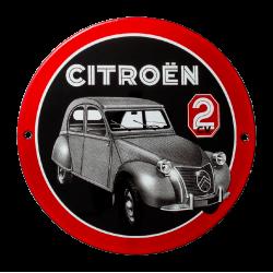 plaque émaillée : Citroën 2CV