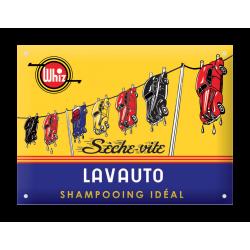 Plaque émaillée bombée : LAVAUTO