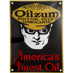 Plaque émaillée bombée : OILZUM MOTOR OILS