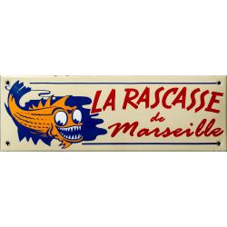 Plaque émaillée  10 x 30 cm plate :  La Rascasse de Marseille