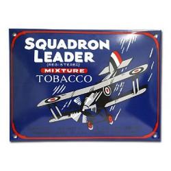 Plaque émaillée 20 x 28 cm bombée :  SQUADRON LEADER