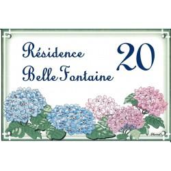 Plaque emaillée 15 x 22.5 cm : Résidence Belle fontaine 20