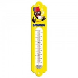 Thermomètre métal bombé hauteur 30 cm : BANANIA