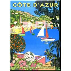 Plaque métal publicitaire 15x20cm plate :  COTE D'AZUR