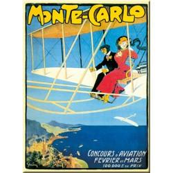 Plaque métal publicitaire 15x20cm plate :  MONTE CARLO