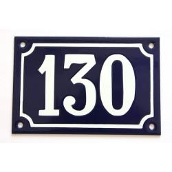 Numéro de rue  émaillé 10 x 15 cm bleu - Numero 130