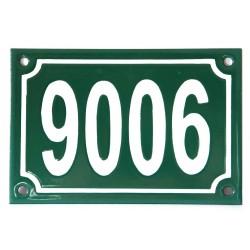 Numéro de rue  émaillé 10 x 15 cm vert - Numero 9006