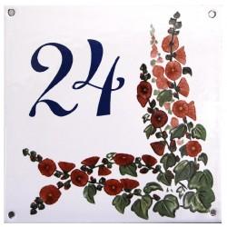 Plaque émaillée plate de 15x15cm : N 24 vert