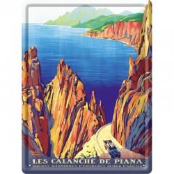 Plaque métal publicitaire 30x40cm bombée  : Calanche de Piana