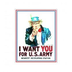 Plaque métal publicitaire 30x40cm plate : I WANT YOU