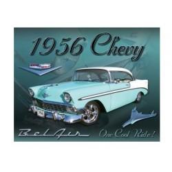 plaque métal publicitaire 30x40cm plate : CHEVY 1956 BELAIR
