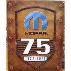 Plaque métal publicitaire 30x40cm plate : Mopar 75