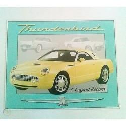 Plaque métal publicitaire 30x40cm plate : THUNDERBIRD A LEGEND REBORN