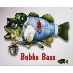 Plaque métal publicitaire 30x40cm plate : Bubba Bass
