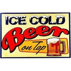 Plaque métal publicitaire 30 x 40 cm plate : Ice cold Beer