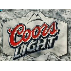 Plaque métal publicitaire 30x40cm plate : COORS LIGHT
