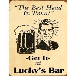 Plaque métal publicitaire 30x40cm plate : Lucky's Bar
