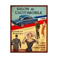 Plaque métal humoristique 22x28cm plate : VOITURE 1956